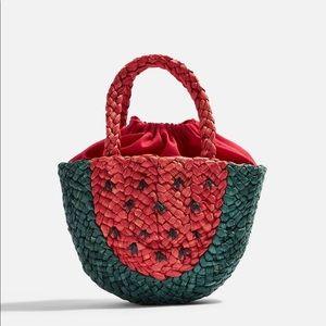 Top shop watermelon rattan purse